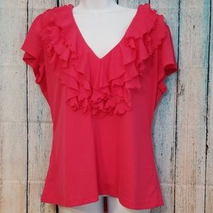 ❤3/$25 East 5th Blouse Pink Short Sleeve XL